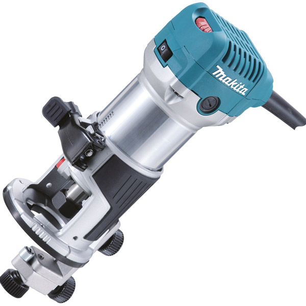 "Makita RT0700CX4 110v 710w 1/4"" router trimmer"