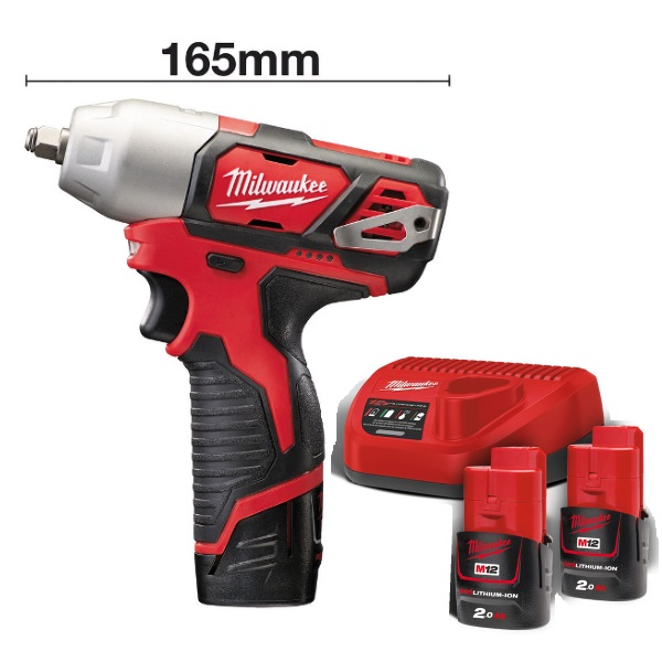Milwaukee 12v M12BIW38-202 Compact Impact Wrench Kit