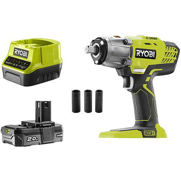 Ryobi R18IW3-120S 18V ONE+ Cordless 3 Speed Impact Wrench Starter Kit
