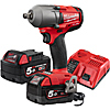 "Milwaukee M18 Fuel Mid Torque Impact Wrench 1/2"" FR Kit M18FMTIWF12-502X"