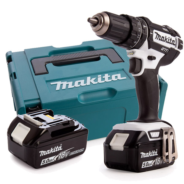Makita DHP482RTWJ 18V LXT White Combi Drill Kit