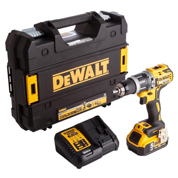 DeWalt XR Brushless Combi Drill DCD796P1 18V Kit