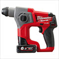 Milwaukee M12CH-602C M12 Fuel Compact SDS 2 Mode Hammer Kit with 2 x 6Ah Batteries