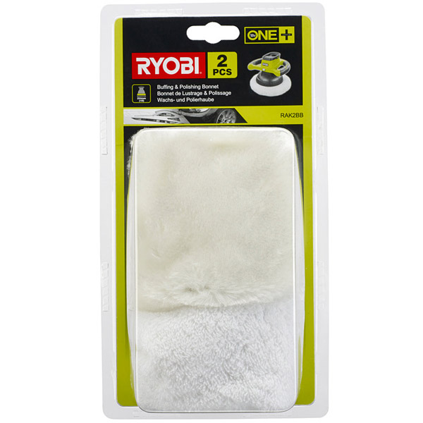 Ryobi RAK2BB Buffing and Polishing Bonnet Set