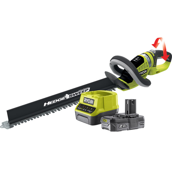 Ryobi Hedge Trimmer Kit with 1 x 2Ah Battery 18v One+ OHT1855R