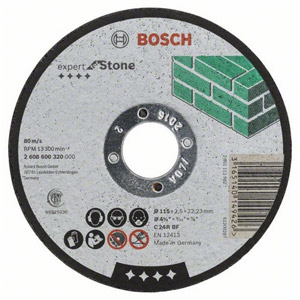 Bosch 115mm Stone Cutting Disc
