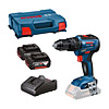 Bosch 18v Combi Drill Kit c/w 2 x 4Ah Batteries GSB18-V-55