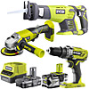 Ryobi One+ 3 Item Kit (R18AG0, RRS1801M, R18PD3)