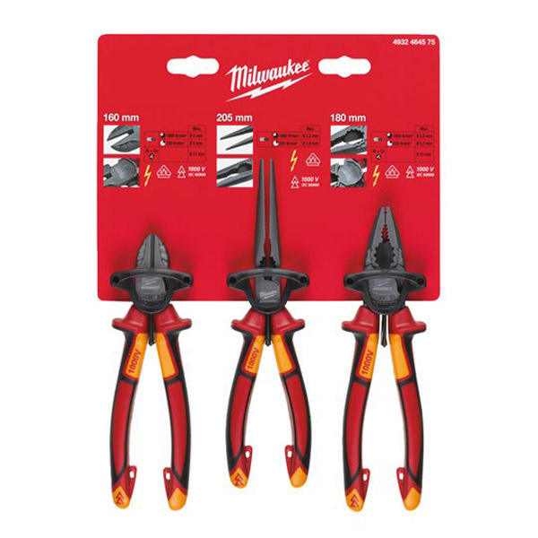 Milwaukee 4932464575 3 PCE VDE Plier Set