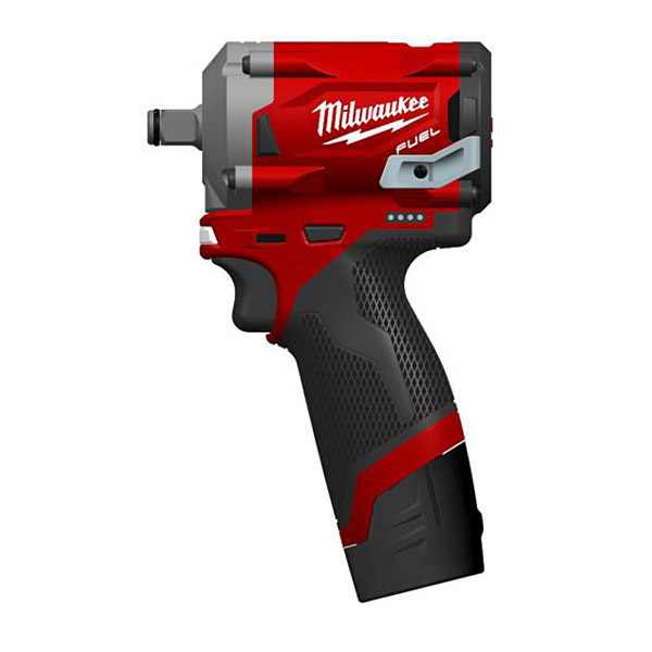 "Milwaukee M12FIW38-622X Fuel 3/8"" Impact Wrench w/ 2 x M12 Batteries and Charger"