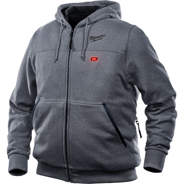 Milwaukee M12HHGREY3-0 12v Heated Hoodie (L)