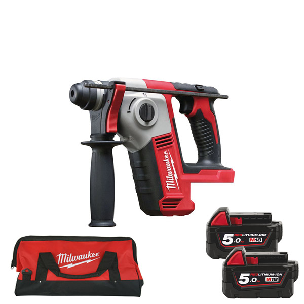 Milwaukee M18BH-502 18v Compact SDS Drill Kit w/ 2 x 5Ah Batteries