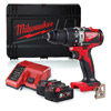 Milwaukee 18v Combi Drill Kit with 2 x 5Ah Batteries M18BLPD2-502X