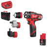 Milwaukee M12BDDXKIT-202C 4-IN-1 Drill Driver Kit