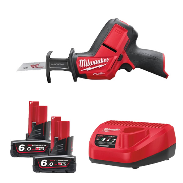 Milwaukee M12CHZ-602C M12 Fuel Hackzall Kit with 2 x 6Ah Batteries