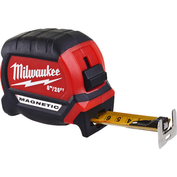 Milwaukee Magnetic Tape Measure 4932464603 Premium Gen 3 8m / 26ft