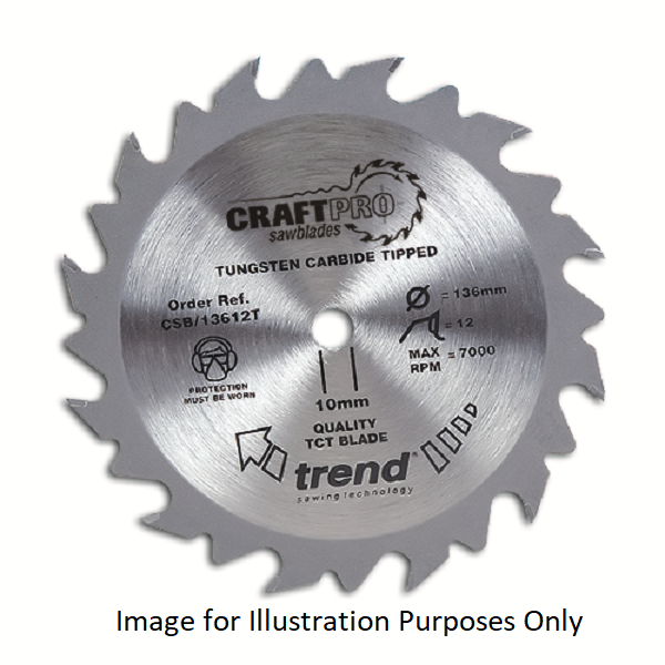 "Trend CSB/18424TA 184mm(7 1/4"") 16B 24T C/SAW BLADE"