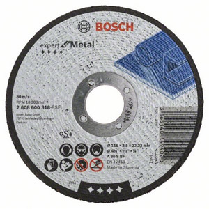Bosch 115mm Flat Metal Cutting Disc