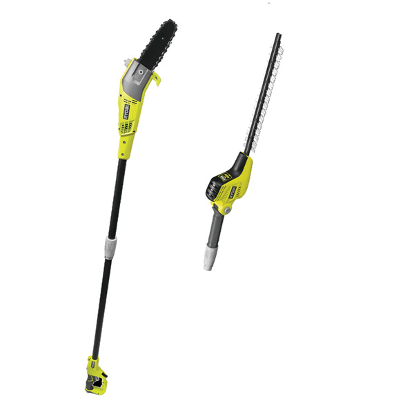 Ryobi 240v Electric Pole Saw and Hedge Trimmer Kit RP750450