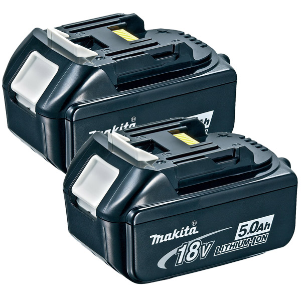 Makita BL1850 18v 5amp Lithium Battery Twin Pack