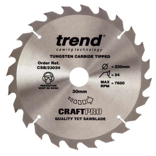 "Trend CSB/23024 230mm(9"") 30B 24T CRAFT SAW BLADE"