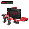 Milwaukee 12v Twin Pack M12FPP2AQ-202X (M12FPD & M12QID)