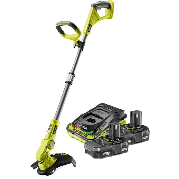 Ryobi 18v Line Trimmer Kit with 2 x 1.3Ah Batteries, One+ OLT1832