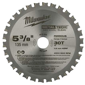 Milwaukee 48404070 Circular Saw Blade 135mm Ferrous
