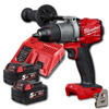 "Milwaukee M18FPD2-502X 1/2"" Fuel Percussion Drill w/ 2 X 5.0Ah Batteries"