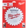 Milwaukee 165mm Circular Saw Blade 15.87B 24T TCT 4932471311