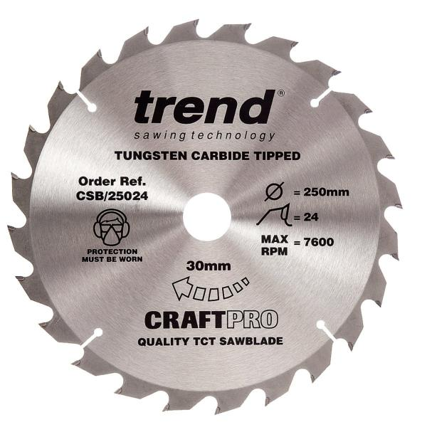 "Trend CSB/25024 250mm(10"") 30B 24T CRAFT SAW BLADE"