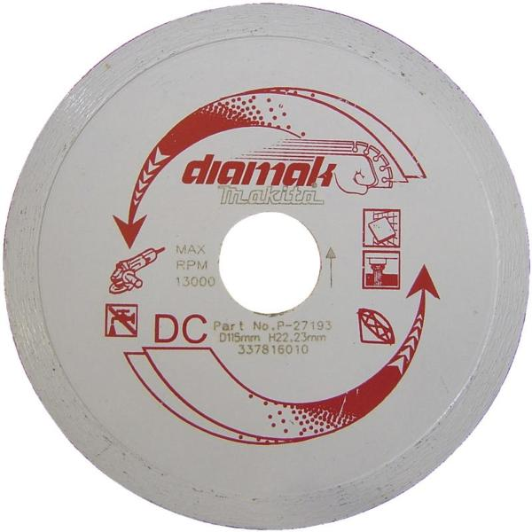 "Makita D-61189 115mm(4 1/2"") 22.23B CONTINUOUS DIAMOND BLADE"