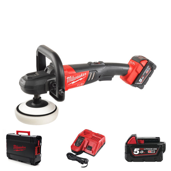 Milwaukee M18FAP180-502X Cordless 18V Variable Speed Polisher
