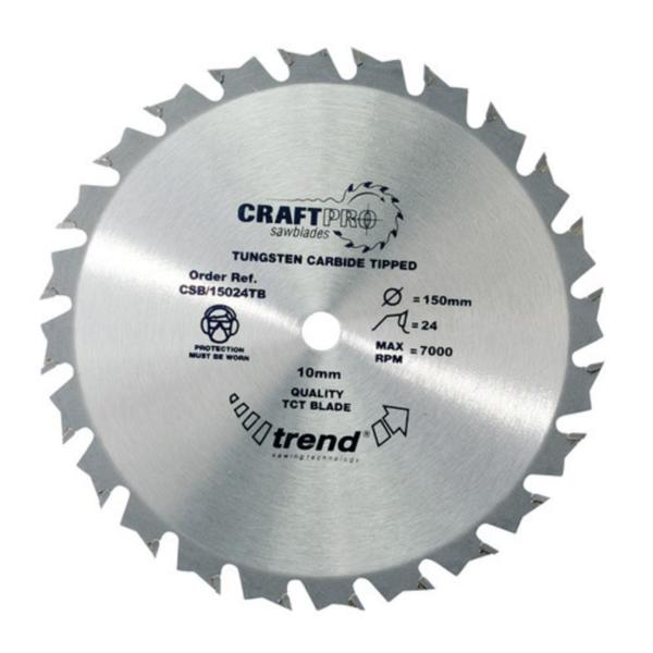 "Trend CSB/15024TB 150mm(6"") 10B 24T CRAFT SAW BLADE"