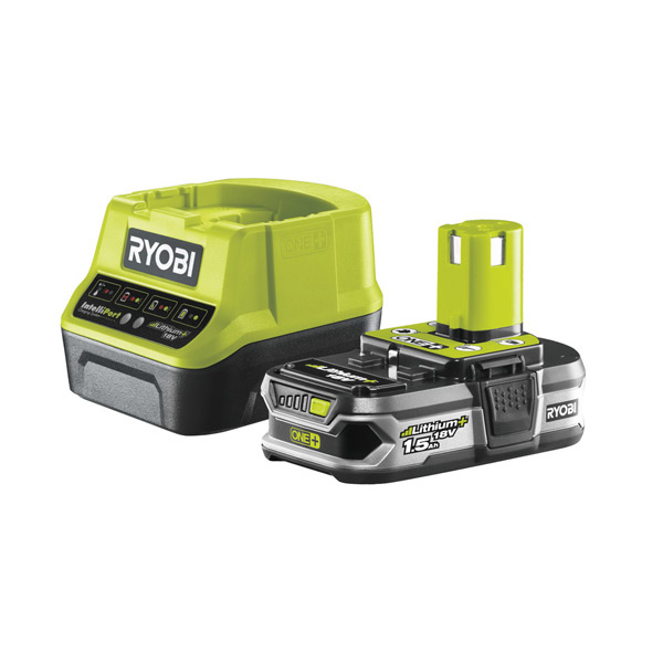 Ryobi RC18120-115 18V ONE+ 1.5Ah Battery and Charger Kit