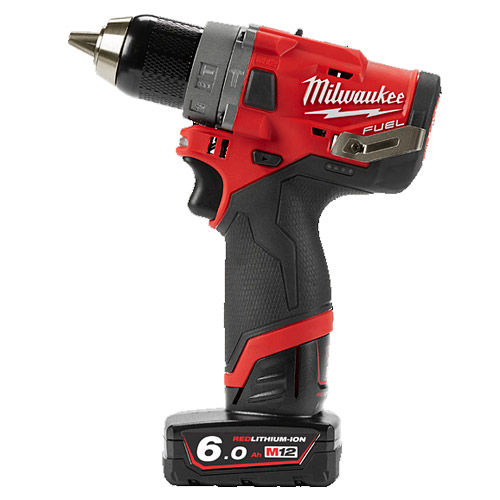 Milwaukee M12FPD-602X 12V Cordless FUEL Percussion Drill (2 x 6.0Ah)