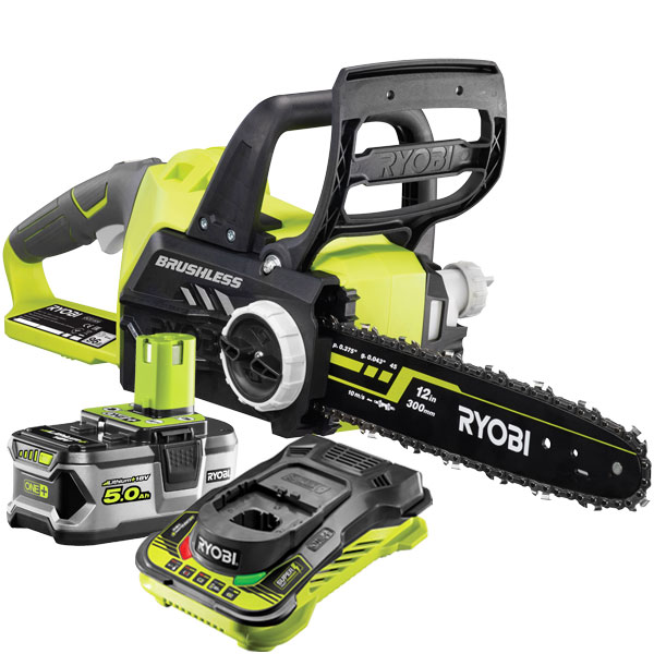 Ryobi ONE+ Brushless Chainsaw Starter Kit OCS1830-150