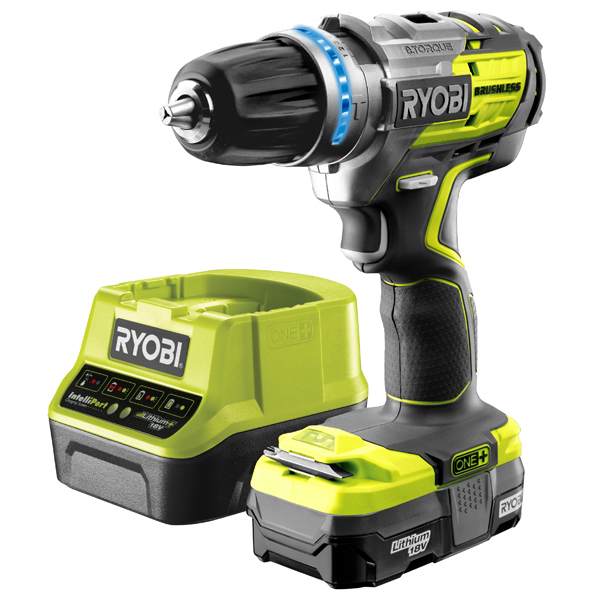 Ryobi R18PDBL13 Brushless Percussion Drill & 1.3Ah Battery Kit