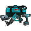 Makita 18v SDS & Combi Kit with 2 4.0Ah Batteries. DLX2025M