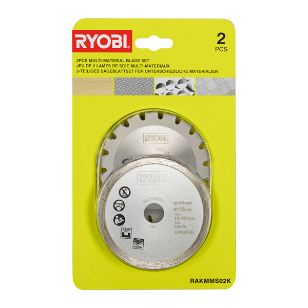 Ryobi Multi-Material Saw Blade Twin Pack RAKMMS02K