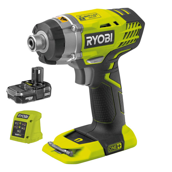 Ryobi RID18-113G Impact Driver Kit with 1 x 1.3Ah Battery and Charger.