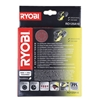 Ryobi RO125A10 Sanding Disc Sheet Set (10 pcs)