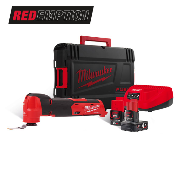 Milwaukee 12v Fuel Multi Tool Kit M12FMT-422X (2.0Ah+ 4.0Ah)