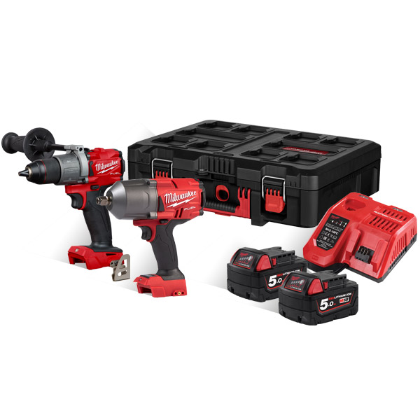 Milwaukee M18FPP2I2-502P Fuel Twin Pack (2 x 5Ah Batteries)
